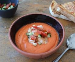 Tomato gazpacho, prawns, sundried tomato, chilli butter.