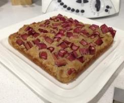 Gluten Free, Dairy Free Rhubarb Cake