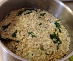 Mushroom, Leek and Bacon Risotto
