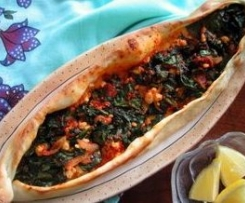 Turkish Spinach Pide
