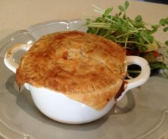 Chicken, leek and mushroom Pot Pies