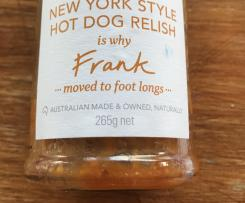 New York Style Hot Dog Onion Relish