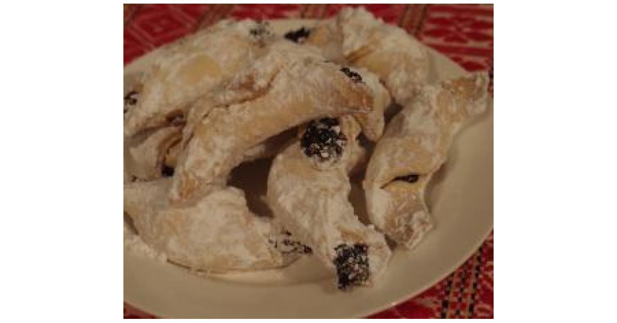 Homemade Bagels Croatian Kifle Shortcrust Biscuits With Jam