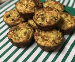 Cheesy cauliflower & zucchini muffins