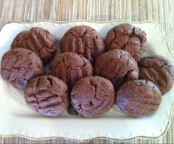 Easy chocolate cookies with choc chips