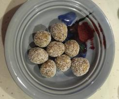 Lemon & Date bliss balls
