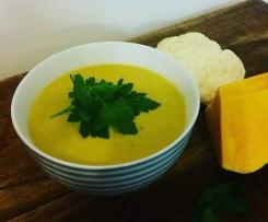 Roast Pumpkin, Cauliflower and Garlic Soup