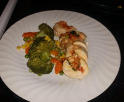 All-in-One Sundried tomato & cashew stuffed chicken breast