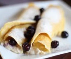 Gluten Free Ricotta and Blueberry Crepes
