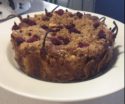 pear and marsala crumble cake
