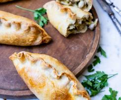 Chicken and leek Pasties