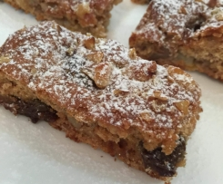 Gluten Free Pear & Walnut Slice