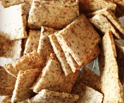 LCHF Grain Free Almond Seed Crackers