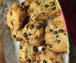 Nut Butter Choc Chip Cookies (no flour)