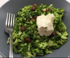 Broccoli & Hazelnut Salad with Creme Fraiche