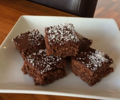 Chocolate Coconut Slice - Gluten Free