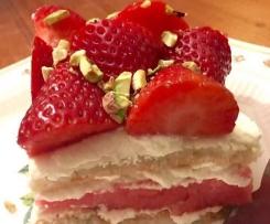 Watermelon and Strawberry Cake