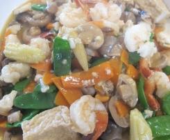 braised tofu with seafood