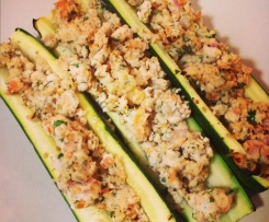 HCG Chicken stuffed zuchini