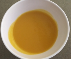Honey roasted pumpkin soup