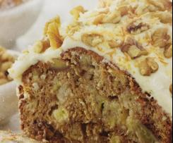 Banana, Coconut & Walnut Loaf With Cream Cheese Frosting