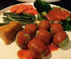 Chicken & Kale Meatballs & Tom Sauce