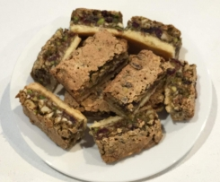 Cranberry and Nut Slice