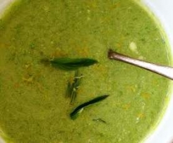 Chilled Pea & Yoghurt Soup