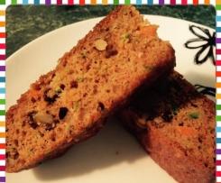Zucchini, Carrot & Walnut Cake