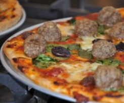Meatball and Bocconcini Pizza