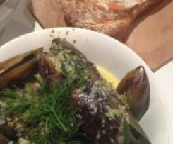 Mussels in cream and wine