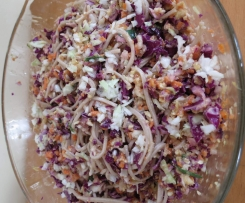 Failsafe soba noodle coleslaw with cashew dressing