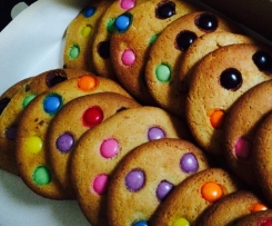 Giant Smartie Cafe style cookies