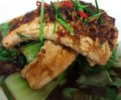 Asian Salmon with Bok Choy