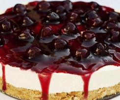 Cherry yoghurt cheesecake