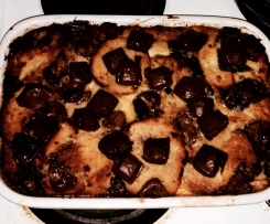 Easter bread and butter pudding