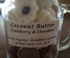 Coconut Butter Chocolates with Cranberries