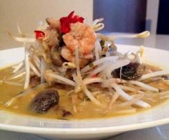 Thai prawn noodle soup ( Tom kha gai inspired)