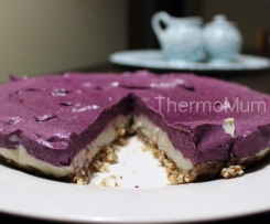 Raw Blueberry Cashew 'Cheese'cake