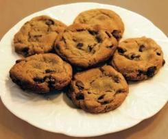 Choc chip and walnut cookies