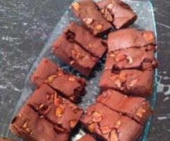 'Paleo' chocolate coffee bacon brownie