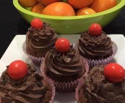 Choc-orange cupcakes