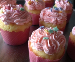 Buttery Vanilla Cupcakes