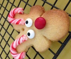Candy Cane Reindeer Cookies