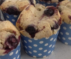 Lemon blueberry friands
