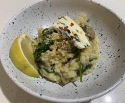 Lemon, Mushroom & Blue Cheese Risotto