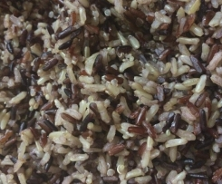 Steamed Wild Mountain Rice mix with Quinoa