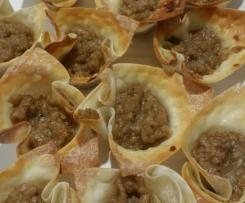 Thai inspired Pork and Peanut Wonton