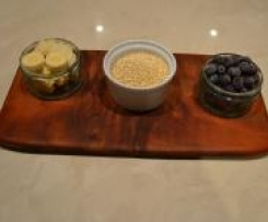 Banana, Blueberry and Quinoa Puree