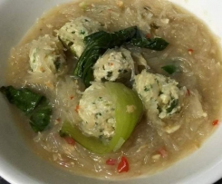 Clone of Vietnamese Chicken Meatball & Noodle Soup